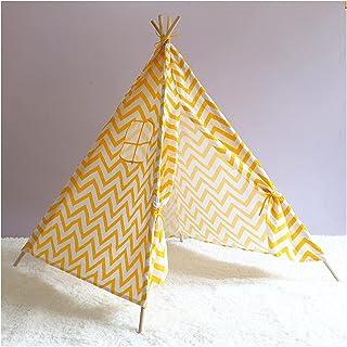 YSJJWDV Teepee tält barn tält tietält för barn bärbar tipi infantil hus för flickor Cabana pojke tält dekoration matta LE...