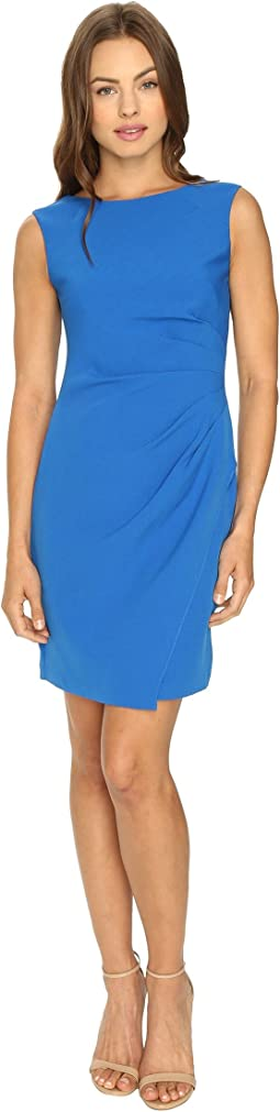 Adrianna Papell - Scissor Hem Side Drape Dress