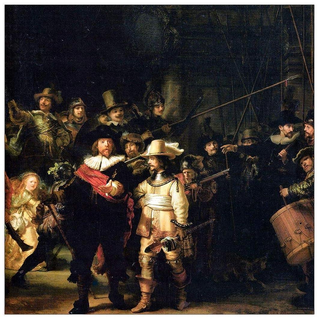 ArtPlaza TW93313 Rembrandt - The Night Watch Decorative Panel 31.5x31.5 Inch Multicolored