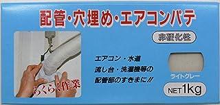 家庭化学 配管・穴埋め・エアコンパテ ライトグレー 1kg