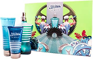 Jean Paul Gaultier Le Male 3 Piece Gift Set (Eau De Toilette Spray 4.2 Oz, All Over Shower Gel 2.5 Oz & Aftershave Balm 1.6 Oz) for Men, 4.2 fl. Oz.