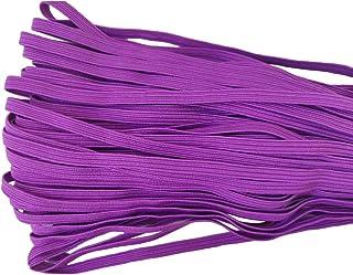 30 Yards Length 1/4 Inch Width Briaded Elastic Band Elastic Rope Purple Heavy Stretch Knit Elastic Spool