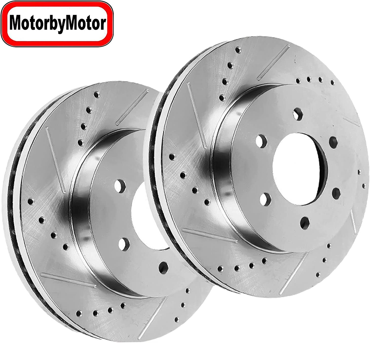 Motorbymotor Front Brake Rotors 297mm B Ranking TOP17 Limited time sale Drilled Slotted Design