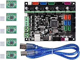 Aoicrie MKS Gen L V1.0 3D Printer Integrated Mainboard Controller PCB Board Compatible Ramps1.4/Mega2560 R3 with A4988 Motor Driver for 3D