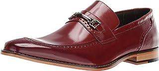 حذاء رجالي من STACY ADAMS بتصميم Tanner Moc Toe Bit بدون كعب، بني اللون، 9. 5 M US