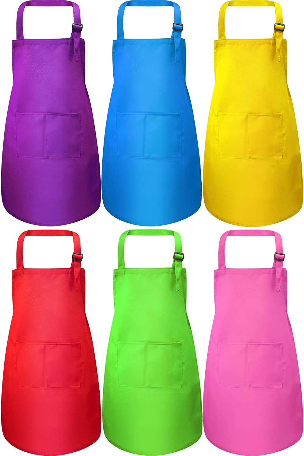 6 Pieces Kids Apron with Pocket Adjustable Super beauty product restock Long-awaited quality top Children f Chef