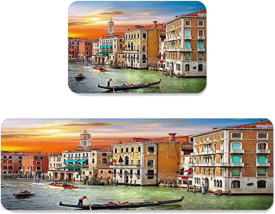 Greaben Venice New products world's highest quality NEW before selling popular Architecture River at Dusk Rubber Durable 2-Pack