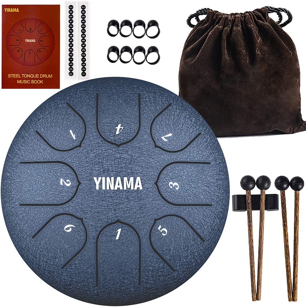 Yinama Steel Tongue Drum Percussion Notes inches 8 Year-end gift Instrument 6 low-pricing