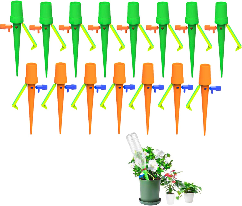 munloo Riego Por Goteo para Macetas, 15 Piezas Dispositivo de Riego por Goteo Automático con Control de Presión de Agua Estable y Interruptor de Válvula, para Plantas de Interior al Aire Libre