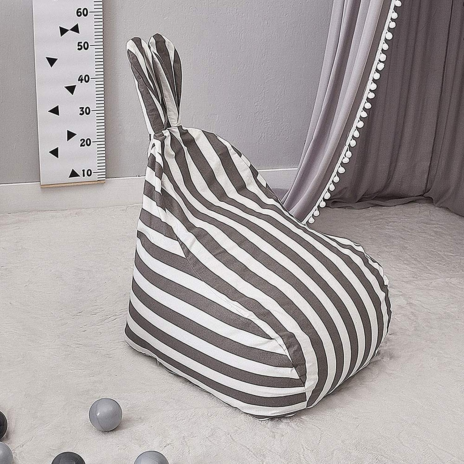 Bean Bag Chair Fun Furniture for boy and Girl Playroom Bedroom or Garden Cute Rabbit Seat Kid's Room Decor