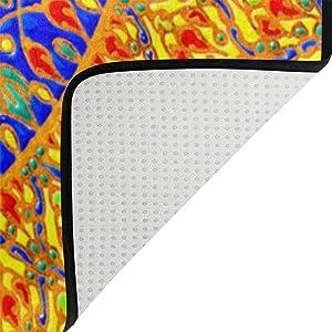 Naanle - Alfombra Antideslizante para salón, Comedor, Dormitorio, Cocina, 120 x 160 cm, diseño de Mandala Floral, 150 x 200 cm(5' x 7')