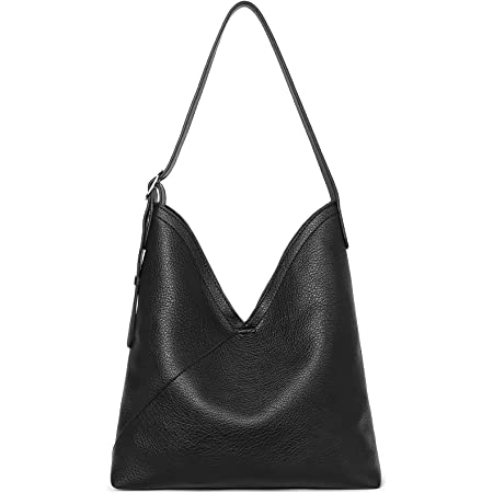 BOSTANTEN Damen Leder Handtasche Schultertaschen Hobo Taschen Designer Ledertasche Shopper Beuteltasche Schwarz