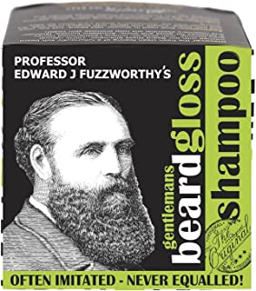 Professor Fuzzworthy's Apple Tonic BEARD SHAMPOO BAR for Sensitive Skin - Light Fresh Scent | 100% Natural Premium Ingredients Promote Beard Growth Anti Itch | 4 oz bar - TWO 13.5 fl oz liquid shampoo