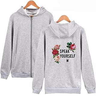 Kpop BTS Hoodie Love Yourself Speak Yourself Tour Full-Zip Pullover Sweatshirts