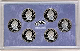 2009 S District of Columbia and 5 US Territories Quarters Proof Set - 6 coins - Quarter GEM Proof No Box or COA US Mint