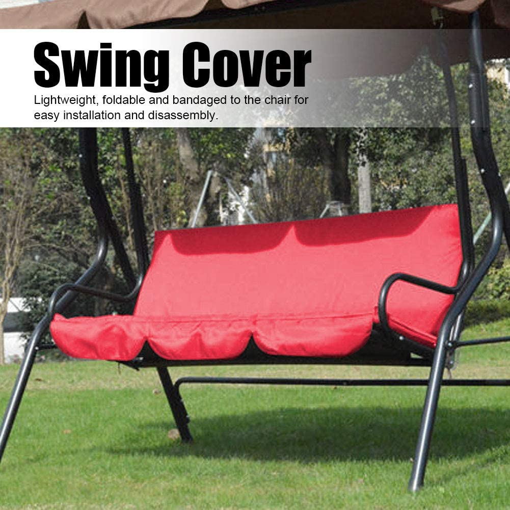 Vikye Swing Cushion Dark Blue Multiple Colour Swing Waterproof Cushion Replacement 3‑Seat Chair Seat Cover for Outdoor Swing Supplier Specification: Blue