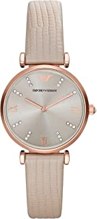 Emporio Armani Women's Gianni T Bar Stainless Steel Two-Hand Dress Watch