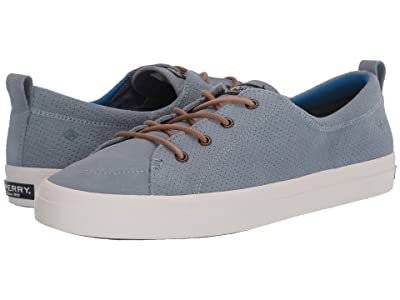 Sperry Crest Vibe PlushWave Pin Perf Leather (Lead) Women