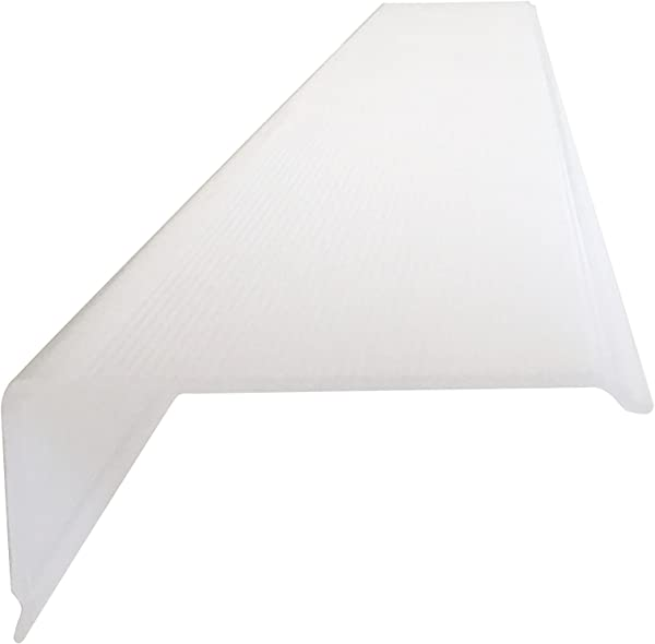 12 Lens Diffuser Under Cabinet Replacement Cover Narrow L 12 X W 2 X H 1 Angled Edge