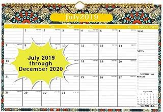 Wall Calendar 2019-2020 Academic Year Monthly Wall Calendar 2019-2020 Wirebound 12
