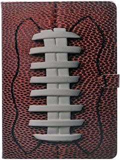 iPad Air 2 Case, American Football Rubgby Ball Pattern Leather Flip Case Stand Cover for Apple iPad Air 2