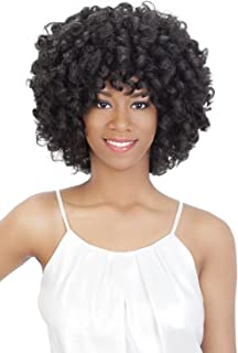 Vivica A Fox Hair Collection Roots Tight Rod Natural Baby Swiss Lace Front Wig, Color 1, 11.1 Ounce