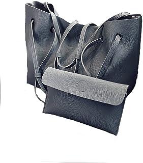 PERHAPS U Women Tote Purses Top Handle Satchel Handbags Soft PU Leather Large Capacity Shoulder Bag