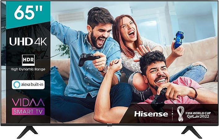 TALLA 65 Pulgadas. Hisense 65AE7000F UHD TV 2020 - Smart TV Resolución 4K con Alexa integrada, Precision Colour, escalado UHD con IA, Ultra Dimming, audio DTS Studio Sound, Vidaa U 4.0