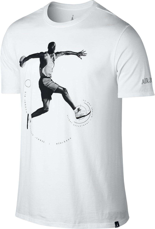 NIKE AJ 5 tee Camiseta de Manga Corta Jordan de Baloncesto, Hombre