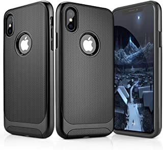 Aitour iPhone X Case, iPhone Xs Case, Tough Armor Bumper Hybrid Protective Compatible iPhone X Case/iPhone Xs Case, Ultra Thin & Shock-Absorption Flexible Soft TPU, pr1