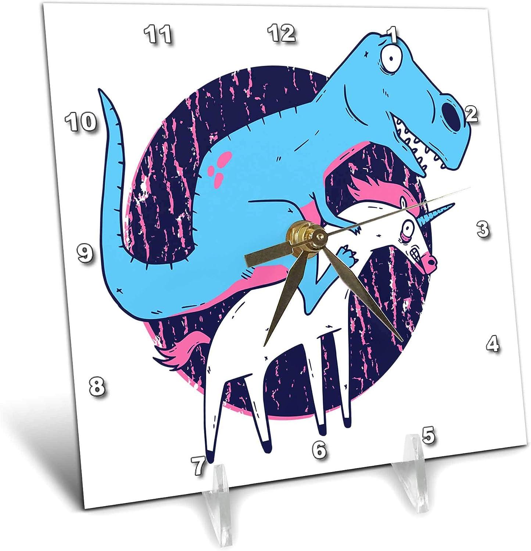3dRose Sven Ranking TOP3 Herkenrath Deluxe Animal - Riding Dinosaur Unico Blue T-Rex