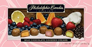 Philadelphia Candies Milk Chocolate Covered Assorted Creams (Soft Center Chocolates), 1 Pound Gift Box