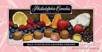 Philadelphia Candies Milk Chocolate Covered Assorted Creams (Soft Center Chocolates), 1 Pound Gift Box