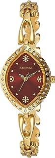 Analog Gold Dial Women's Watch-NK8149YM01