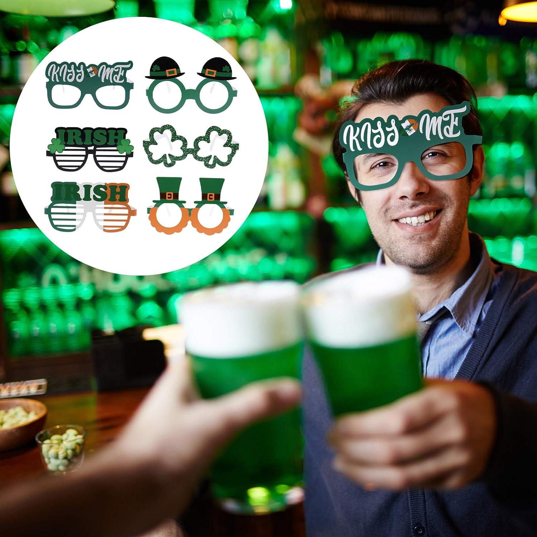VALICLUD 1 Set Saint Patrick Party Clover Photo Gafas de Moda Decorativas Accesorios de Fotograf/ía