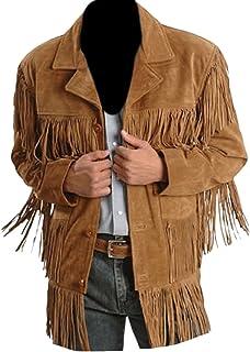 SleekHides Men's Suede Leather Fashion Jacket with Fringes