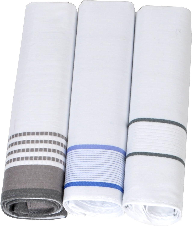 Solid Color 3pc. Men's Cotton Handkerchiefs