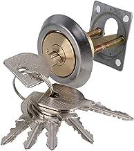 Slot Messingvervanging Mortise RIM Cilinder Deur Nacht Lot Lock Crescent Shaped Nightlatch + 6 Sleutels Strong