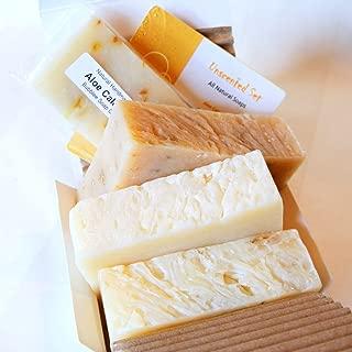 All Natural Handmade Soap Gift Set - Super Shea Butter, Aloe Calendula, Unscented Oatmeal w/ Goat Milk - Made in USA - Great for ECZEMA, PSORIASIS, RASH, DRY SKIN, SENSITIVE SKIN, BABY