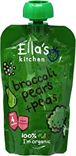 Ella's Kitchen Organic Puree, Broccoli, Pears And Peas, 120g (Pack of 1)
