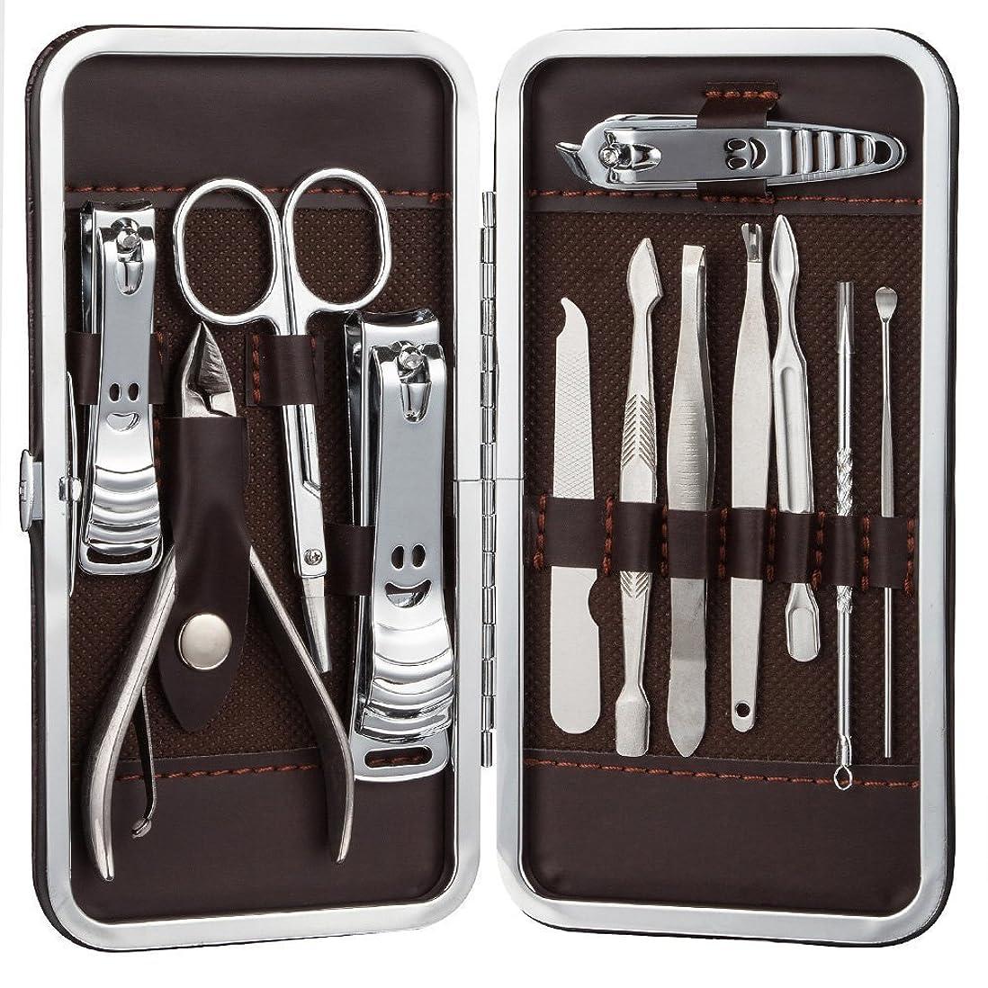 電報時刻表スープSTARTRIP ネイルはさみネイルクリッパートラベルセット、プロフェッショナルステンレスネイルケアセットベビーセーフネイルクリッパーパーソナルマニキュアセットペディキュアセットは、男性と女性のための指、手足で使用爪切り