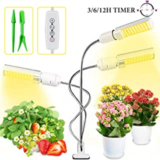 LED Grow Light for Indoor Plants, 68W Sunlike Full Spectrum Grow Lamp, Triple Head Plant Light for Seedling Growing Blooming Fruiting, with Auto ON/Off Timer, 3/6/12H Timing, 5 Dimmable Levels
