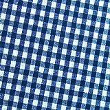 0,5m Vichy-Karo groß 5mm Stoff dunkelblau/ weiß Meterware