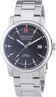 Swiss Military Hanowa - Swiss Recruit Prime - Reloj de Cuarzo para Hombre, Correa de Acero Inoxidable Color Plateado