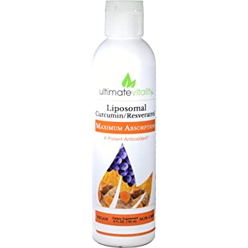 Liposomal Curcumin Liquid, Liposomal Delivery System for Maximum Absorption Enhanced with Resveratrol from Japanese Knotweed Powerful Antioxidant and Anti-inflammatory- 30 Servings