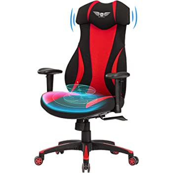 Acethrone Gaming Racing Office Chair with Mesh,Ergonomic Adjustable Swivel Chair Recliner with Lumbar Pillow and Headrest, Mobility Height and Reclining Device High Back Chair for Adults (red)