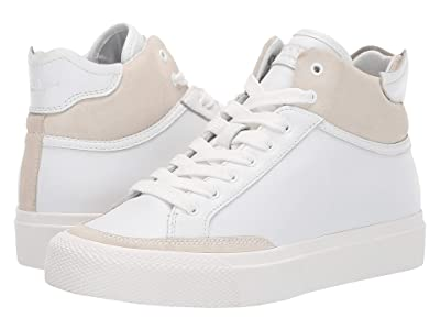 rag & bone RB Army High Sneaker (White Leather) Women