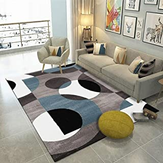 家具の装飾の敷物洗えるポリエステルカーペットの敷物玄関の寝室のリビングルームのソファのベッドサイドの敷物の家の装飾のための滑り止めの裏地付きの床マット快適な寝室の家