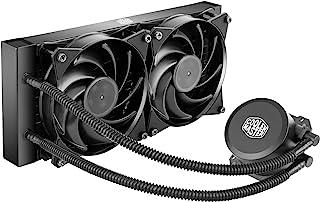 Cooler Master MasterLiquid Lite 240 CPU Liquid Cooler - Dual Dissipation Pump and Dual 120 mm Air Balance Fans