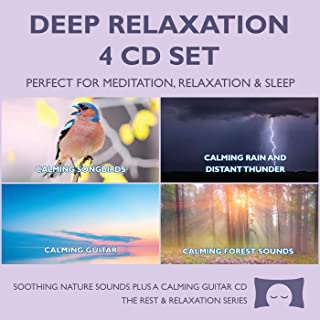 Sponsored Ad - Deep Relaxation 4 CD Set - Soothing Nature Sounds for Meditation, Relaxation and Sleep - Nature`s Perfect W...
